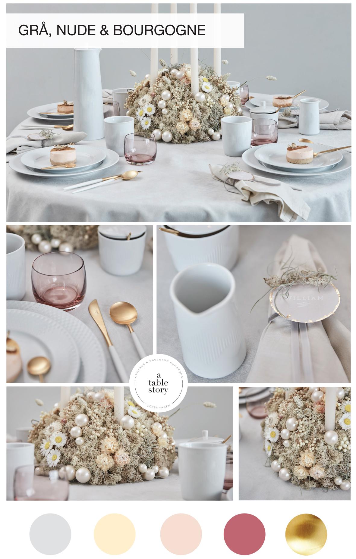 A TABLE STORY EKSKLUSIV SERVICEUDELJNING JULEBORD BORDDÆKNING
