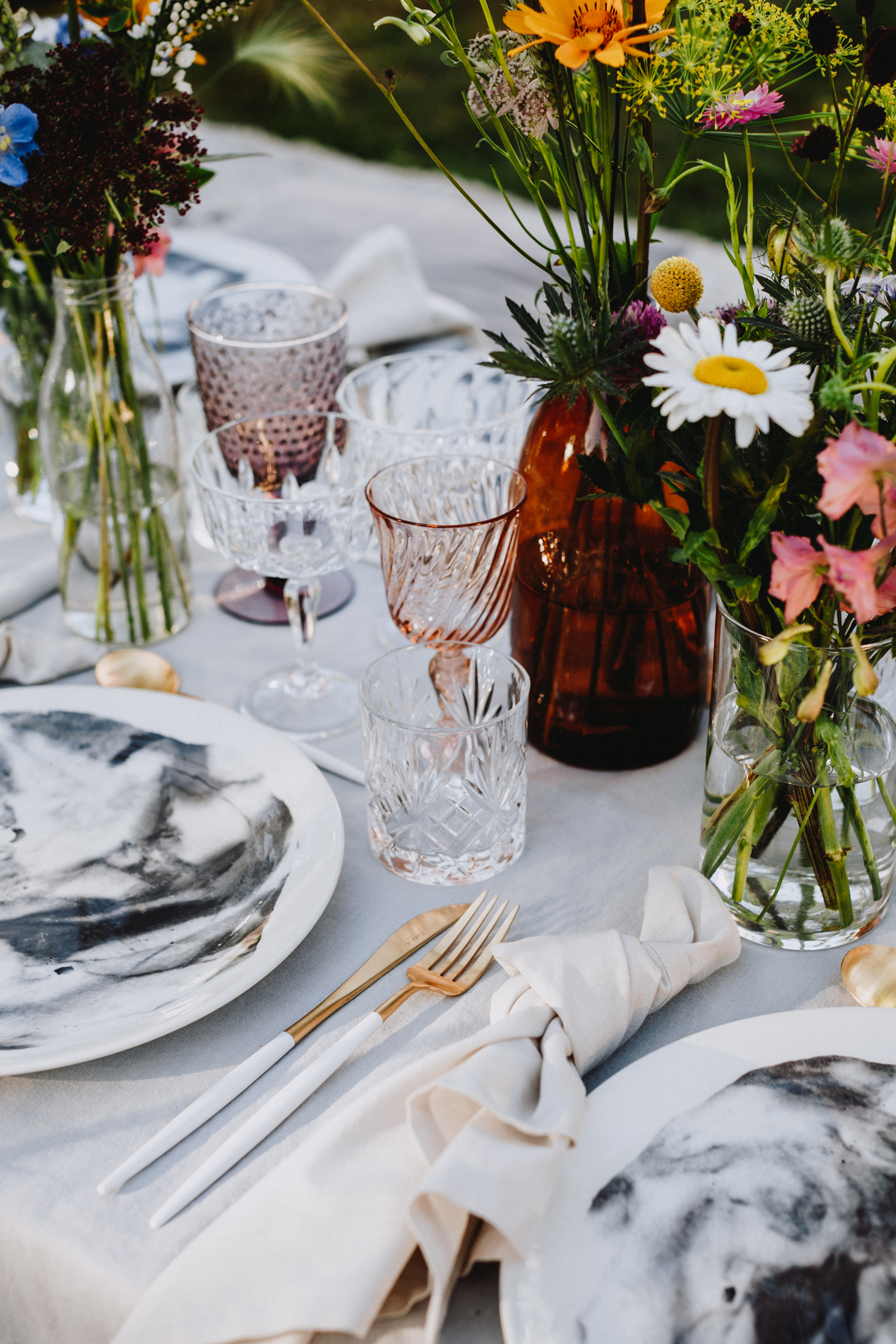 A table story Boho bohemian boheme grøftekant bryllup